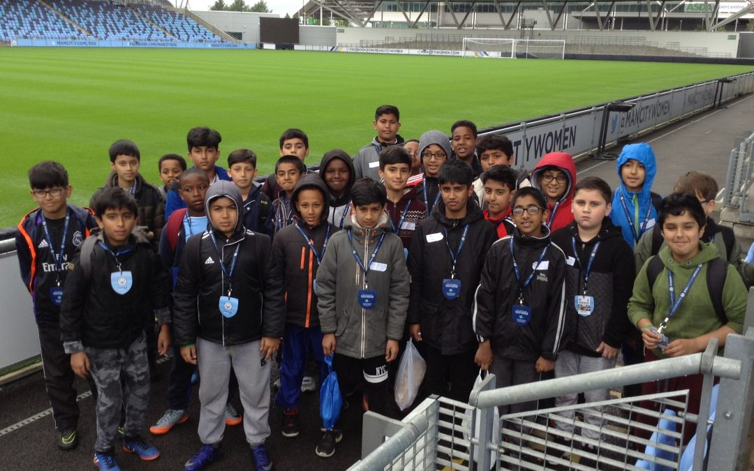 Kicking off new school friendships with Man City induction days